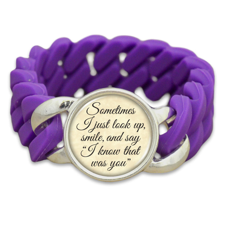 I Know That Was You Colored Silicone Stretch Bracelet