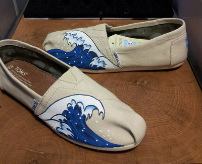 Great Wave Canvas Shoes
