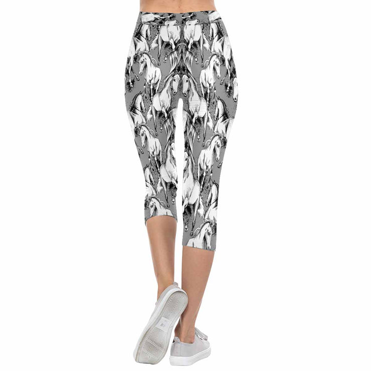 Thunder Horses 3/4 Capri Leggings