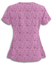Pink Horses Move Me Scrub Top