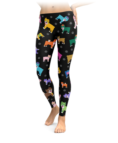 Colorful Pitbull Leggings