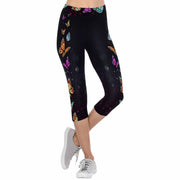 Butterfly 3/4 Capri Leggings