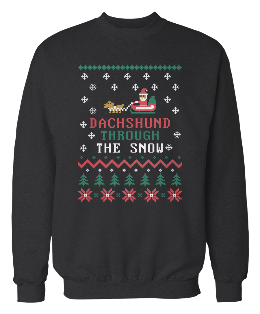 Dachshund holiday sweater
