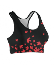 Flying Canadian Maple Leaves Sports Bra