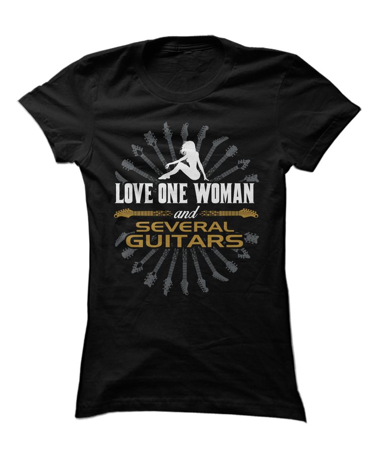 Love 1 Woman And Several Guitars - Funny Musician