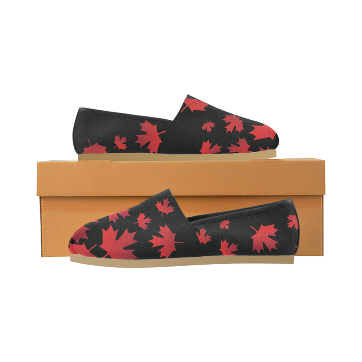 O Canada - Black Women's Canvas Shoes