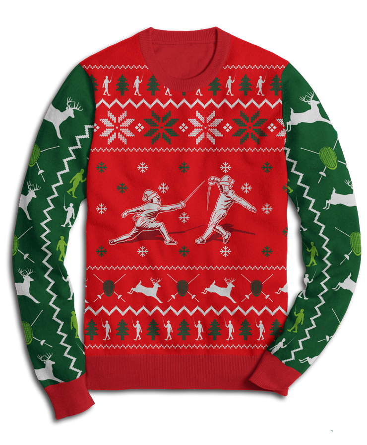 Fencing Holiday Fleece Sweatshirt