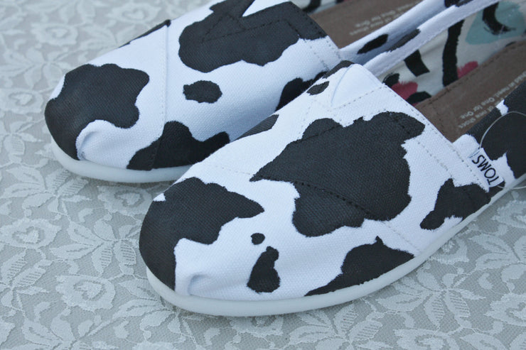 Cow Print Canvas Shoes