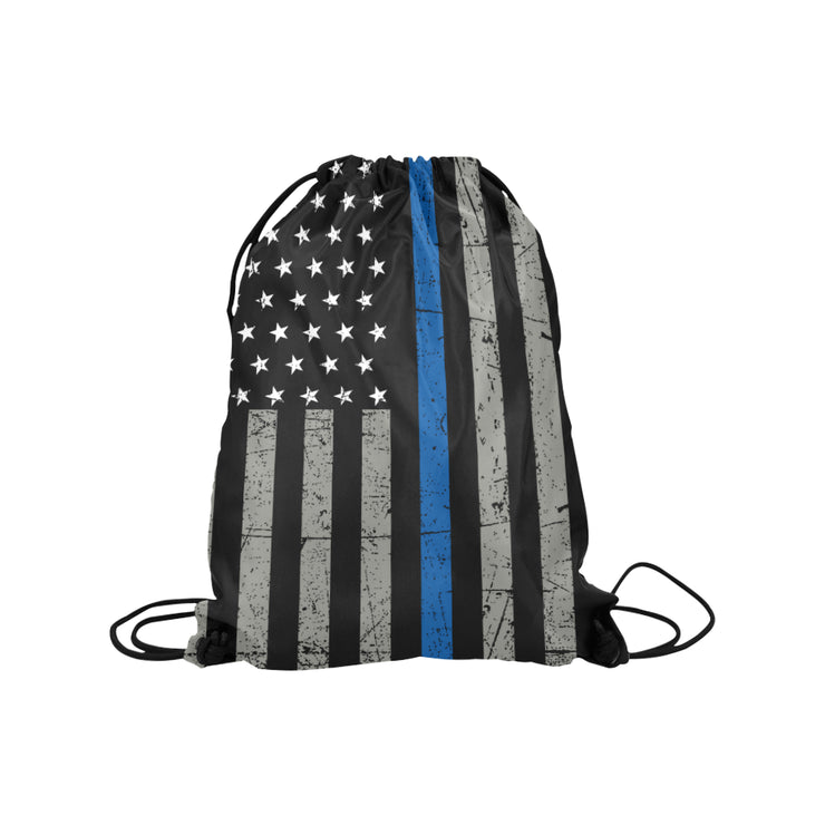 Thin Blue Line Medium Drawstring Bag