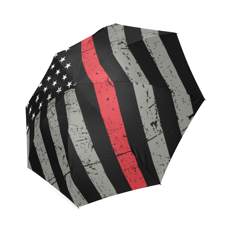 Thin Red Line Foldable Umbrella
