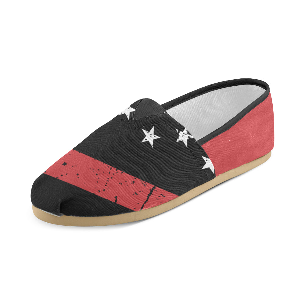 Thin Red Line Canvas Shoes