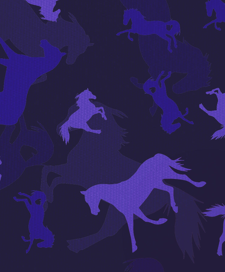Purple Horses Move Me Scrub Top