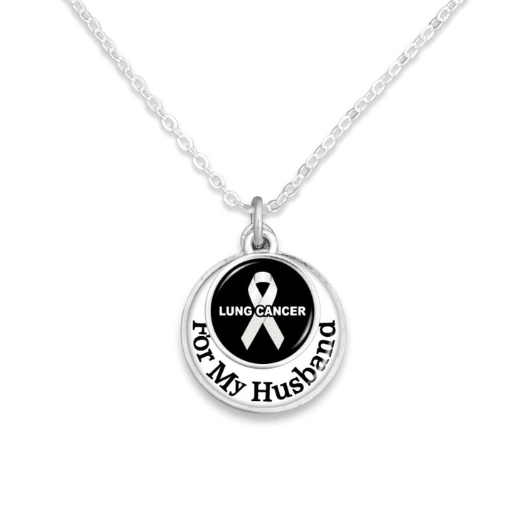 """For My Family"" Lung Cancer Awareness Necklace"