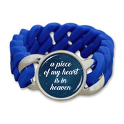 Piece Of My Heart Night Sky Colored Silicone Stretch Bracelet