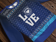 Police Officer's Love Badge Holiday Fleece Sweatshirt