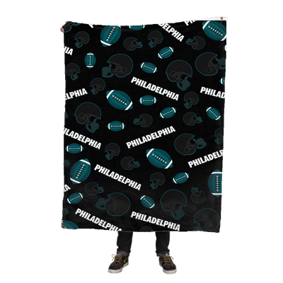 Philadelphia Football Icons Fleece Blanket