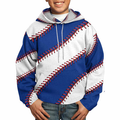 Chicago Baseball Stitches All Over Print Kids Hoodie
