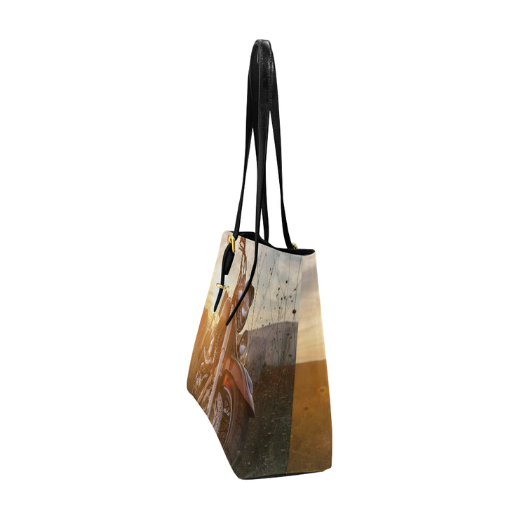 Sunset Rider Leather Tote Bag