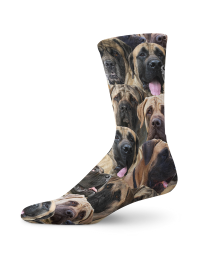 Mastiffs on Mastiffs on English MastiffsCrew Socks