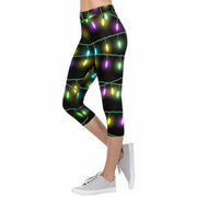 Xmas Lights 3/4 Capri Leggings