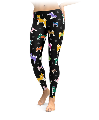 Colorful Shiba Inu Leggings