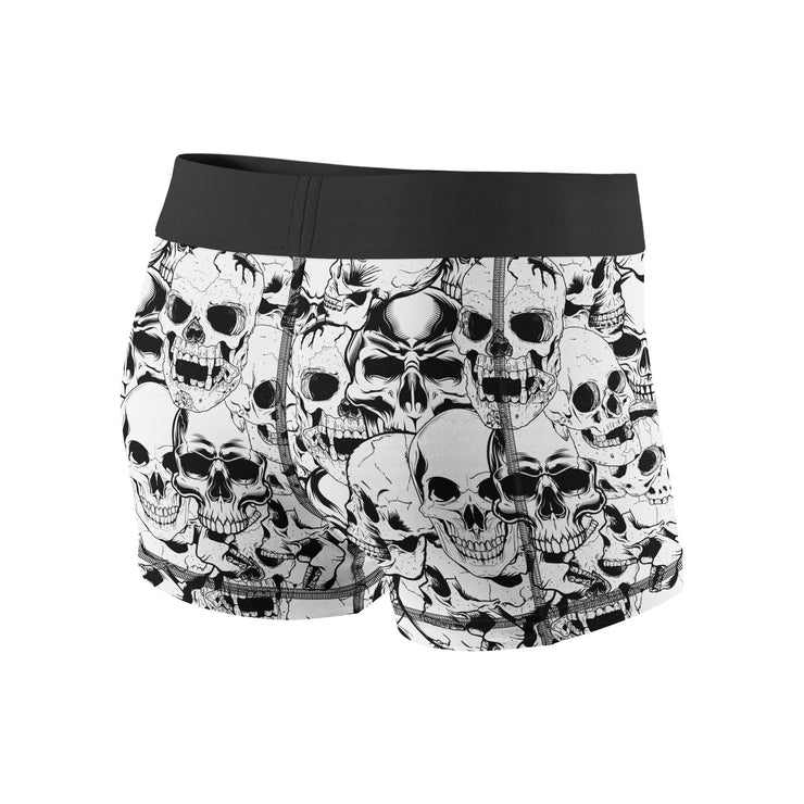 White Skulls Fitness Shorts