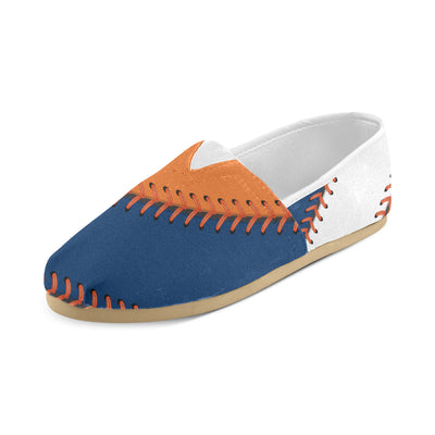 Houston Baseball Stitches Women's Canvas Shoes