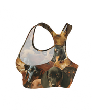 Doxies on Doxies on Dachshunds Sports Bra