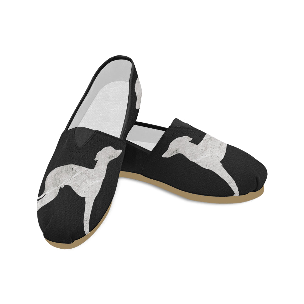 Greyhound Silhouette Canvas Shoes
