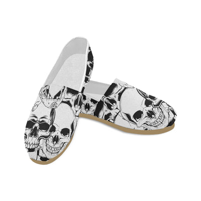 Skulls All Over These Women's Canvas Shoes