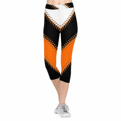 San Francisco Baseball Stitch 3/4 Capri Leggings
