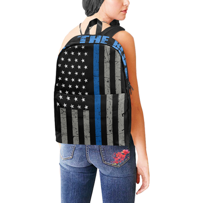 Thin Blue Line Flag Back The Blue Unisex Classic Backpack