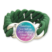 Watercolor I Know That Was You Colored Silicone Stretch Bracelet