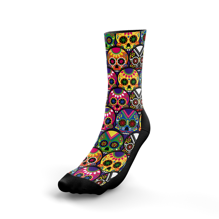 Candy Colored Sugar Skulls Crew Socks