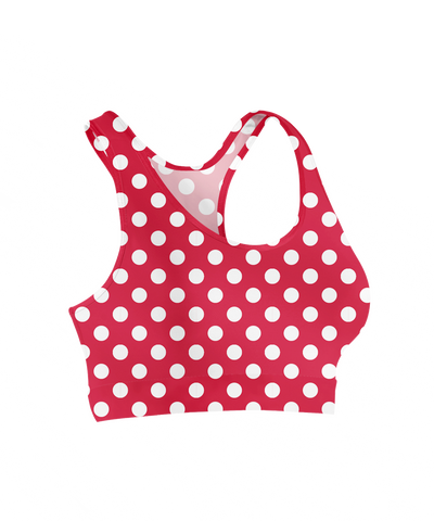 Minnie Polka Dots Sports Bra