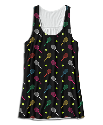 Colorful Tennis Racerback Tank Top