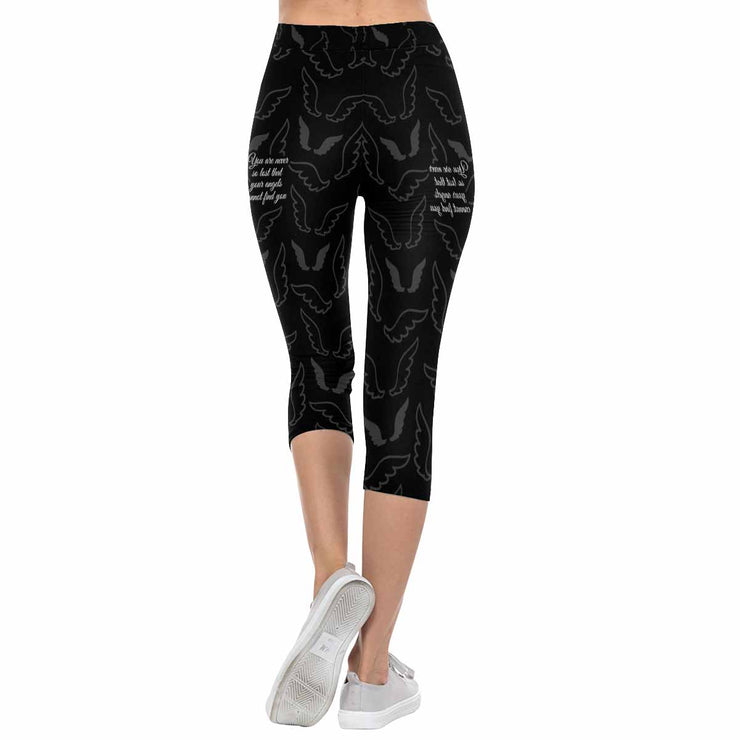 You Are Never So Lost That Your Angels Cannot Find You 3/4 Capri Leggings