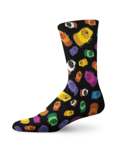 Colorful Guinea Pig Crew Socks