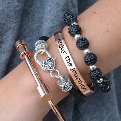 Enjoy The Journey Arm Party Bracelet Stack