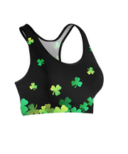 Lucky Flying Clovers Sports Bra
