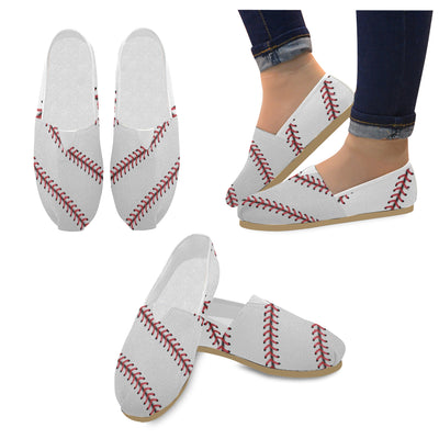 Baseball Stitches Women's Canvas Shoes