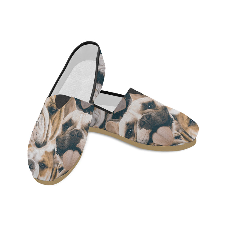 Bulldogs on Bulldogs on Bulldogs Canvas Shoes