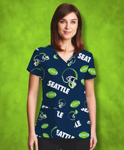 Seattle Football Lovers Scrub Top