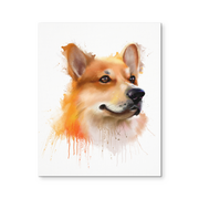 8x10 - Corgi Portrait Canvas Wall Art