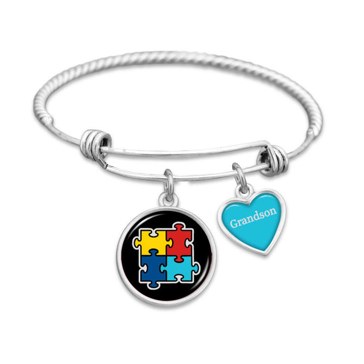 Autism Awareness Bracelet (Son, Daughter, Niece, Nephew, Sister, Brother, Granddaughter, or Grandson)