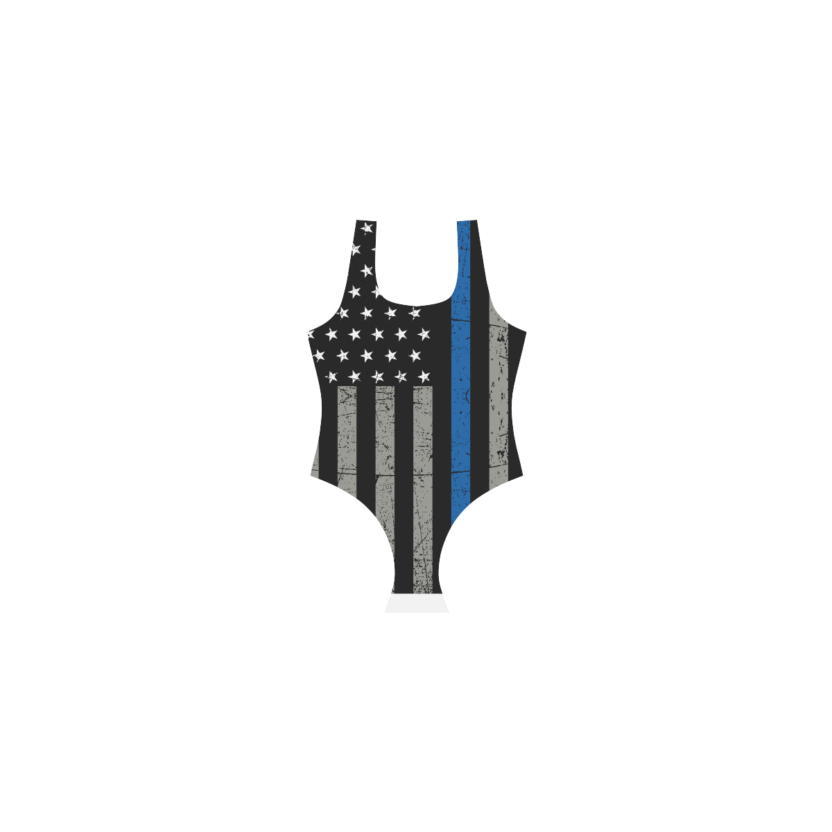 Thin Blue Line One Piece Swimsuit
