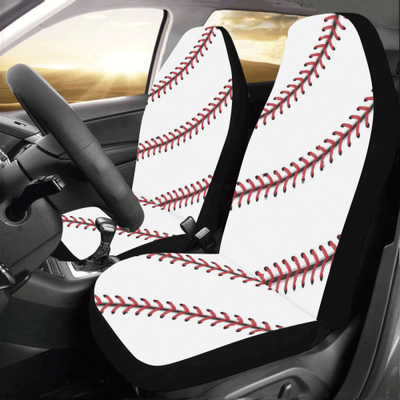Baseball Stitches Car Seat Covers (Set of 2)