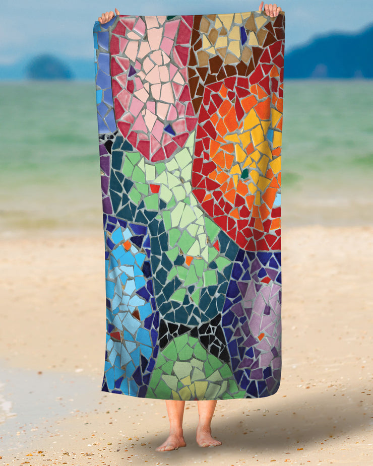 Gaudi's Parc Güell Tiles Beach Towel
