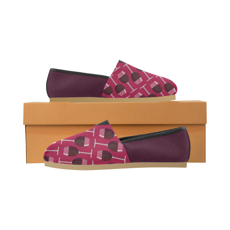 Red Wine Glasses Canvas Shoes