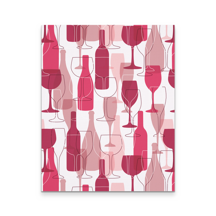 16x20 - Wine On Wine On Wine Canvas Wall Art